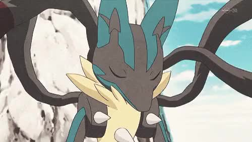 Watch a Fists of Aura a GIF on Gfycat. Discover more aura pokemon, aura sphere, blue eyes, bone rush, evolution, fighting type, friends, game freak, gif, gym, gym leader korrina, holding, key stone, long blond hair, looking up, lucario, mega form, mega glove, mega lucario, nintendo, pokemon xy, power-up punch, red eyes, riolu, serious expression, smile, steel type GIFs on Gfycat