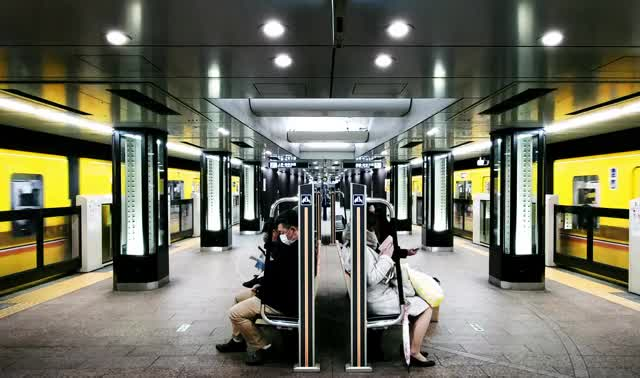 Watch and share Tokyo Subway Yellow GIFs by AJ LOOPS THINGS on Gfycat