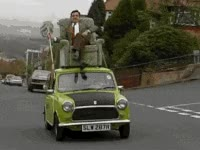Watch and share Mr Bean Car GIFs on Gfycat