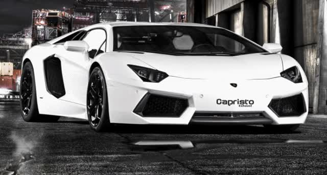 Watch and share Lamborghini Aventador Becomes A Real Screamer With CAPRISTO Exhaust Upgrade! GIFs on Gfycat