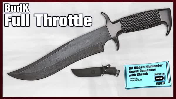 Watch and share Gil Hibben Highlander Bowie Damascus With Sheath - $159.99 - ON SALE - $99.98 (reddit) GIFs on Gfycat