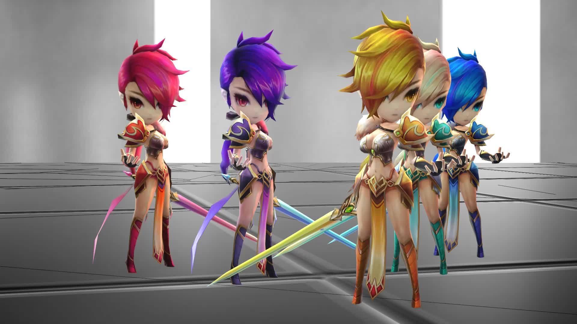 summonerswar, Magic Knights [Summoners War - 3D Render] GIFs