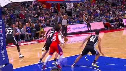 Watch and share Christian Wood — Detroit Pistons GIFs by Off-Hand on Gfycat
