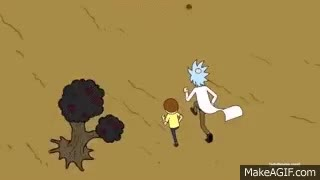 Watch and share Rick And Morty Running Rick And Morty Intro Gif Rick And Morty Gif GIFs on Gfycat