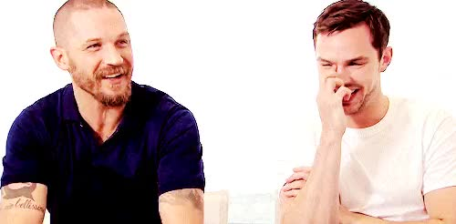 Watch and share Nicholas Hoult GIFs and Tom Hardy GIFs on Gfycat
