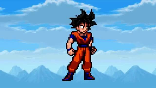 Watch and share Goku Turns SSJ3 - Sprite Version GIFs on Gfycat