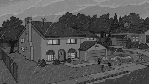 Watch and share Simpsons Raining Rainy Day Hungover GIFs on Gfycat