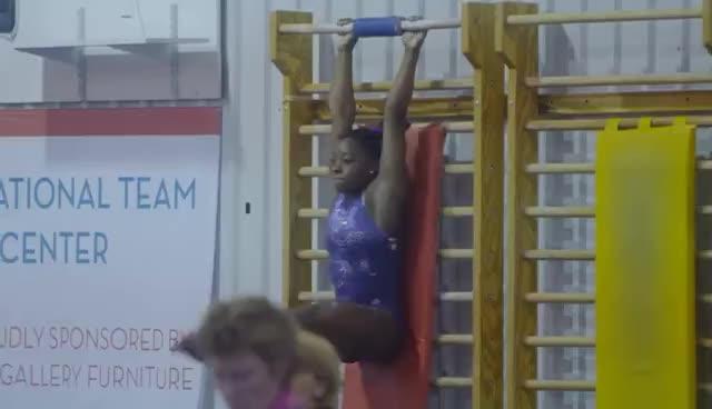 gymnast, gymnastics, simone biles, Simone Biles training GIFs