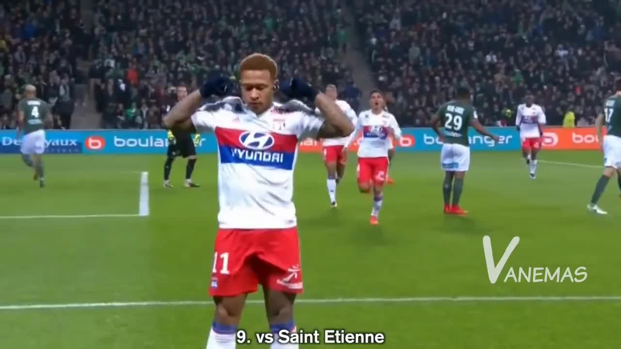 All Tags, Holland, PSG, Penalty, angers, depay, everton, hattrick, lyon, lyonnais, memphis, netherlands, panenka, troyes, Memphis Depay ● All 11 Goals scored this Season - 2017/18 GIFs