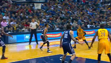 Watch and share Paul George — Indiana Pacers GIFs by Off-Hand on Gfycat