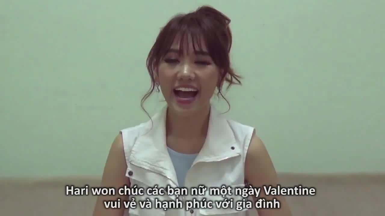 Quên mất ngày Valentine dành cho ai, Hari Won chúc các fan hạnh phúc bên gia đình