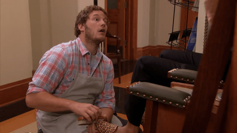chris pratt, oh my god, omg, parks and rec, parks and recreation, reactions, what is that, wtf, Oh My God What Is That Chris Pratt GIFs