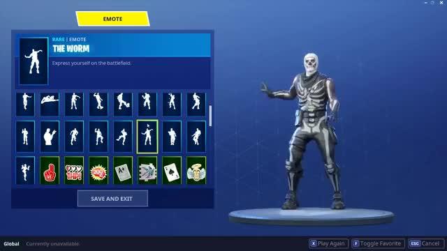 "Watch and share Fortnite ""Skull Trooper"" Skin Showcased With 40+ Emotes/Dances | Season 4 Fortnite Shop GIFs on Gfycat"