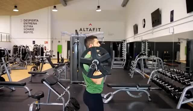 Watch and share Press Militar - Ejercicio Para Hombros Y Tríceps GIFs on Gfycat