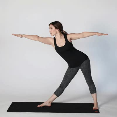 Watch and share 400x400 Extended Triangle Pose GIFs by Healthline on Gfycat
