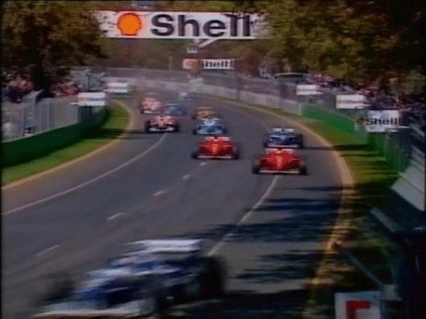 formula1gifs, Martin Brundle's Jordan torn into two pieces in massive accident - Australia 1996. (reddit) GIFs