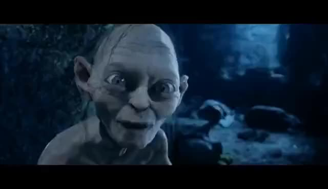 Watch and share LOTR The Two Towers - Gollum And Sméagol GIFs on Gfycat
