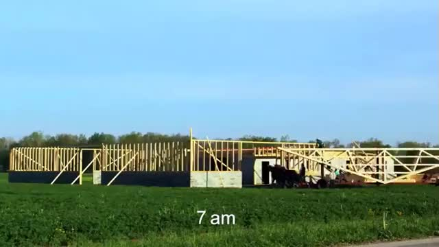 Watch A timelapse of an Amish community raising a barn in 10 hours GIF by tothetenthpower (@tothetenthpower) on Gfycat. Discover more related GIFs on Gfycat