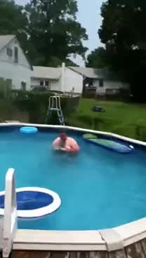pool, fatty GIFs