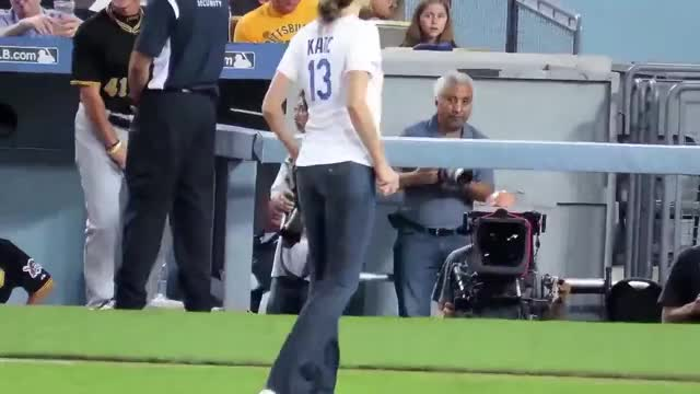 Watch and share Stana Katic At @Dodgers GIFs on Gfycat