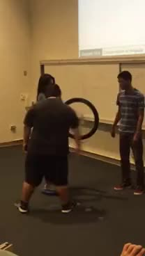 Watch Angular momentum conservation experiment using a bike wheel GIF on Gfycat. Discover more related GIFs on Gfycat