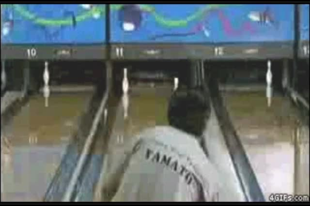 Watch this bowling GIF by @mattperry on Gfycat. Discover more BeAmazed, BetterEveryLoop, beamazed, bettereveryloop, bowling, gifs GIFs on Gfycat