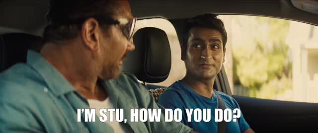 Watch and share Kumail Nanjiani GIFs and Dave Bautista GIFs by STUBER on Gfycat