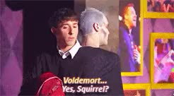 Watch gone. GIF on Gfycat. Discover more AVPSY, a very potter senior year, brian rosenthal, harry potter, joe walker, mine, professor quirrell, starkid, voldemort GIFs on Gfycat
