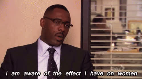 celebs, idris elba, the office, andy the office GIFs