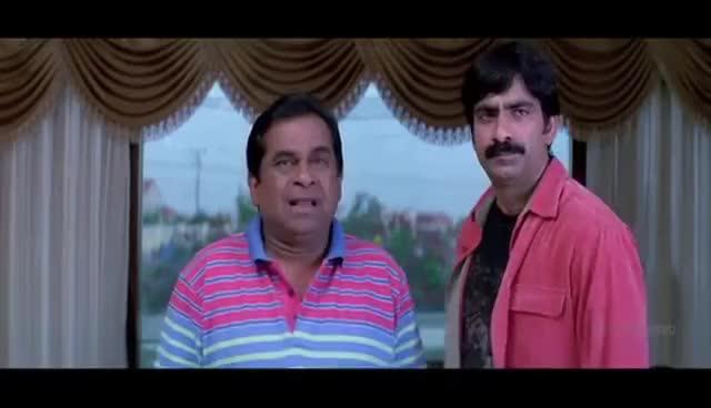 Watch and share Krishna Movie Brahmanandam Raviteja Comedy | Ravi Teja, Trisha | Sri Balaji Video GIFs on Gfycat