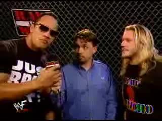 Jericho interrupts the rock