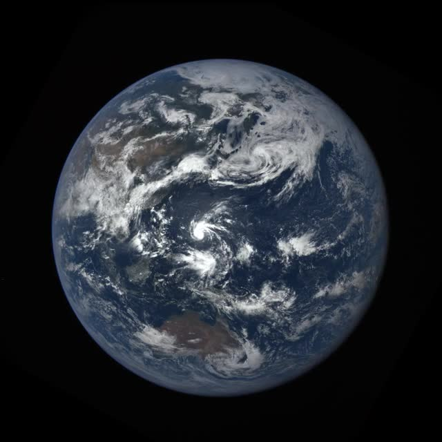 NASA Camera Catches Moon 'Photobombing' Earth
