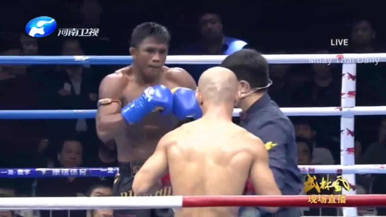 mma, muaythai, มวยไทยออนไลน์, Rematch, Yi Long (China) vs. Buakaw Banchamek (บัวขาว), 05 Nov 2016, Fight of the Century 2 GIFs