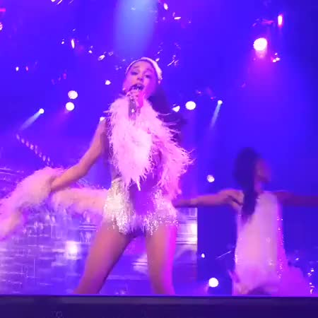 Watch Dancing around with a feather boa, Honeymoon Tour (reddit) GIF on Gfycat. Discover more arianagrande GIFs on Gfycat