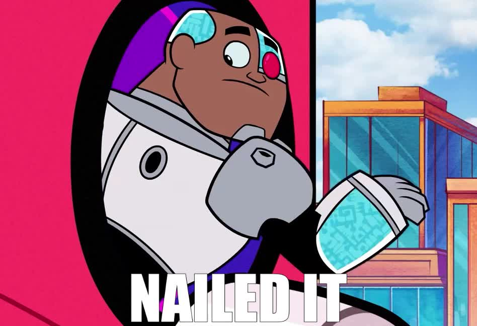 awesome, cartoon, excited, go, great, happy, it, made, nail, nailed, network, proud, teen, titans, victory, win, wow, yay, yeah, yes, Teen Titans GO! GIFs