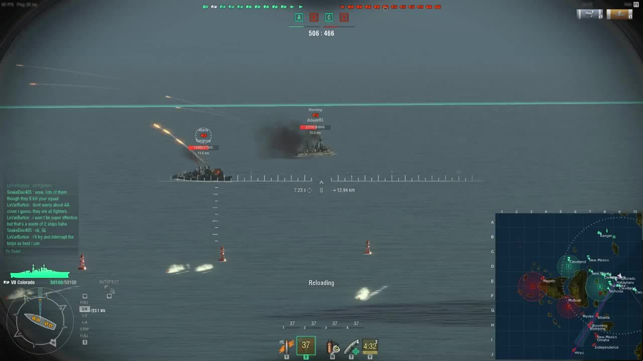worldofwarships, Colorado Citadel Hit GIFs