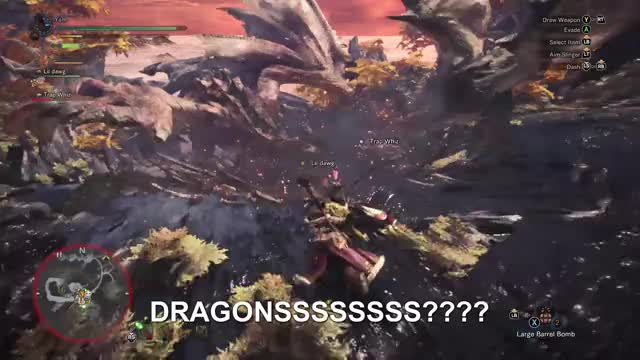 Watch DRAGONS MY NIGGA? DRAGONS? GIF by Gamer DVR (@xboxdvr) on Gfycat. Discover more MONSTERHUNTERWORLD, tevshaun, xbox, xbox dvr, xbox one GIFs on Gfycat