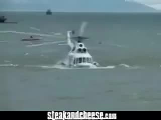 Watch and share Helicopter Crashes In Water GIFs on Gfycat