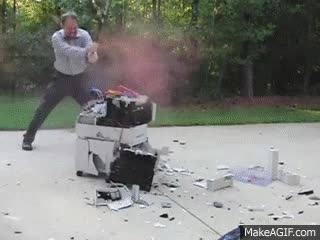 Watch and share Printer Destruction GIFs on Gfycat
