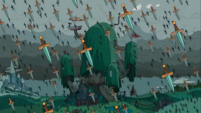 Watch and share Adventure Time Sword Rain Stor Ns GIFs on Gfycat