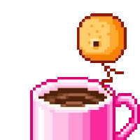 Pink Coffee Cup n Dunkin cookie laughs GIFs