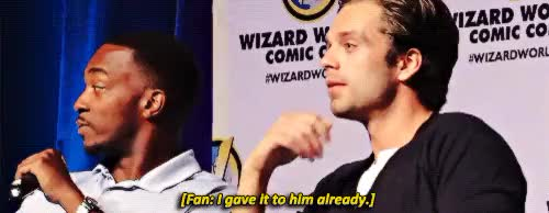 Watch this anthony mackie GIF on Gfycat. Discover more anthony mackie, sebastian stan GIFs on Gfycat