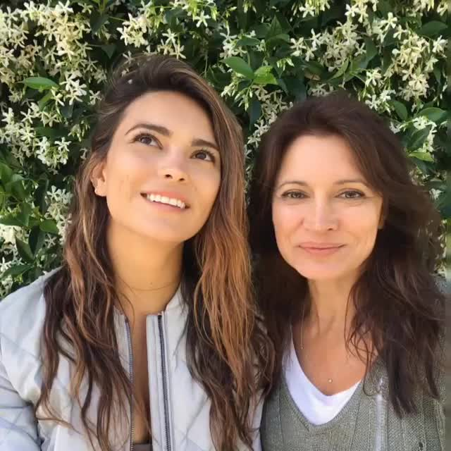 Cute with her mom GIFs