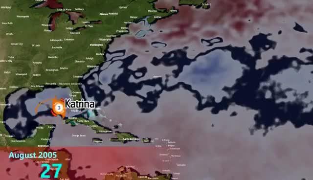 Watch and share 2005 Atlantic Hurricane Season Animation (v.4) GIFs on Gfycat