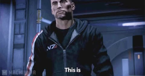 Watch and share Commander Shepard GIFs on Gfycat