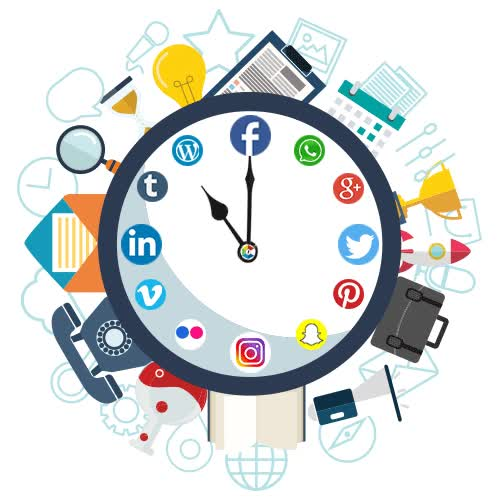 Watch and share Social-media-marketing-services-clock GIFs on Gfycat