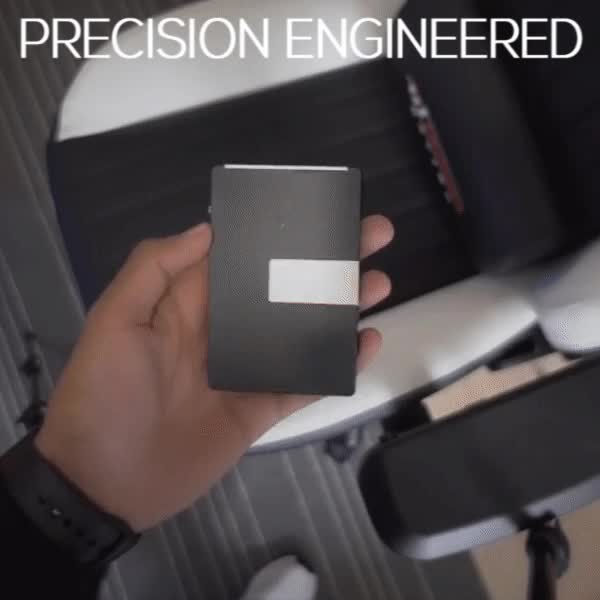 Watch Hamza-Gunmetal-Precision GIF by MANI WONDERS (@maniwonders) on Gfycat. Discover more business card holder, creditcardwallet, flush-retracting, slimwallet GIFs on Gfycat