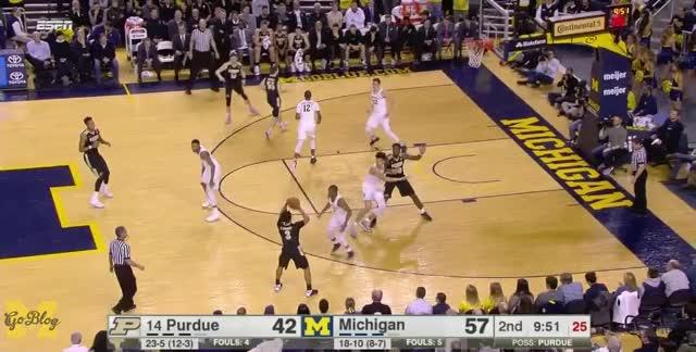 Watch Defense GIF by MGoBlog (@mgoblog) on Gfycat. Discover more 2016-17, Basketball, DJ Wilson, Defense, Duncan Robinson, Michigan, Muhammad-Ali Adbur-Rahkman, Purdue GIFs on Gfycat