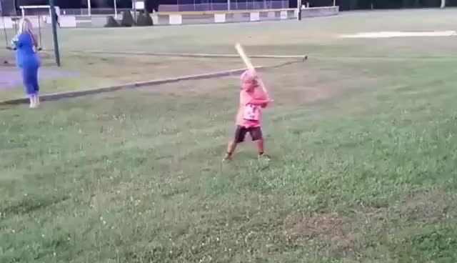 Wiffle Ball Kid Has Swagger