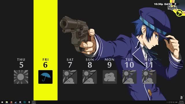 Persona 4 Naoto Shirogane Rainmeter GIF by ジュピター